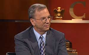 Googles vd Eric Schmidt hos The Colbert Report