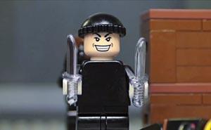 Lego-soldat? Bild från video